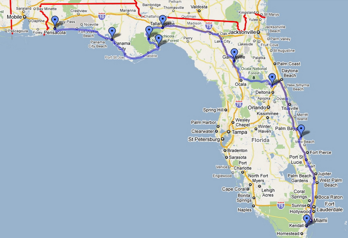 The Route Americas  Expedition - Florida map crestview
